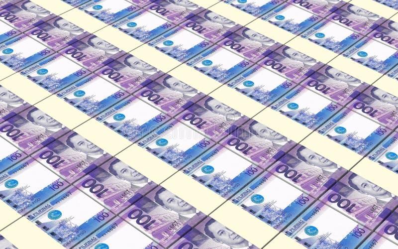 Indonezyjska rupia wystawia rachunek sterty tło ilustracja wektor
