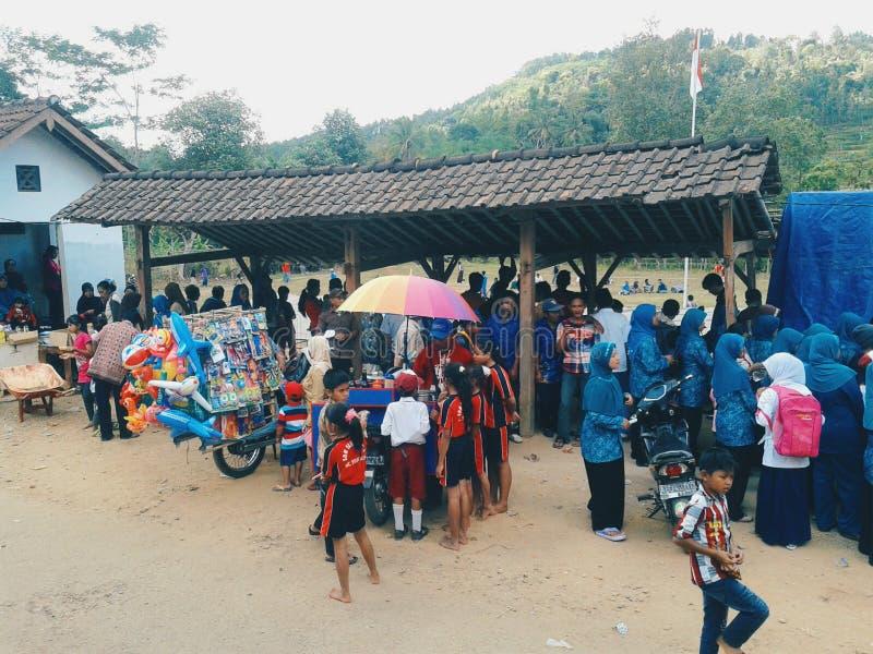 Indonezyjski dnia niepodległości świętowanie zdjęcie stock
