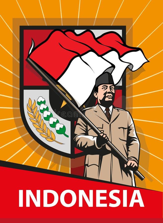 Indonezyjski Dzień Niepodległości ilustracja wektor