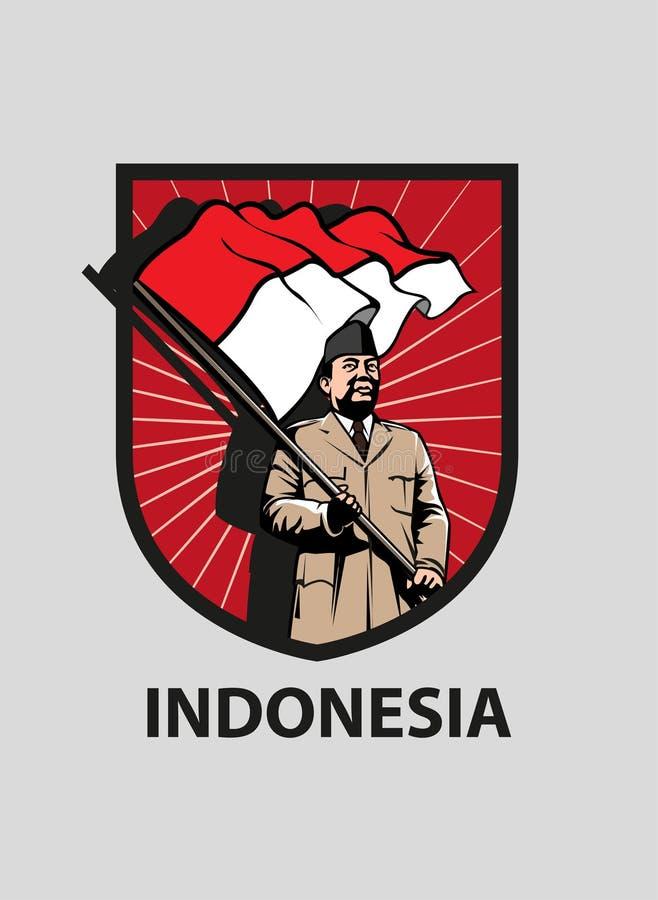 Indonezyjski Dzień Niepodległości royalty ilustracja