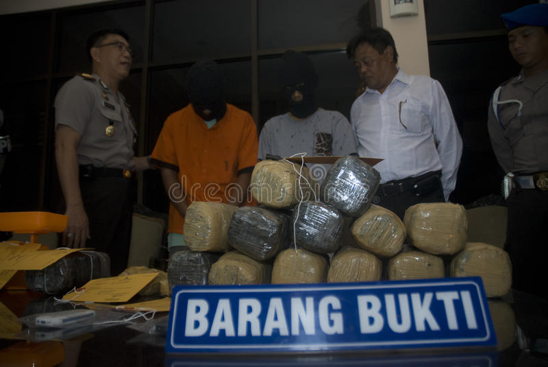 INDONEZYJSKI wyrok śmierci NA marihuan sprzedażach zdjęcia stock