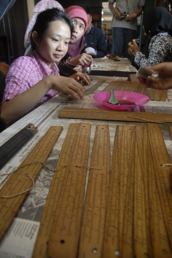 INDONEZYJSKIE ANTYCZNE ślimacznicy finansowania potrzeby fotografia royalty free