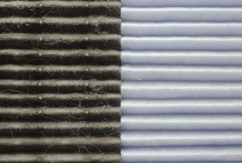 Indoor air quality, two filters comparision royalty free stock images