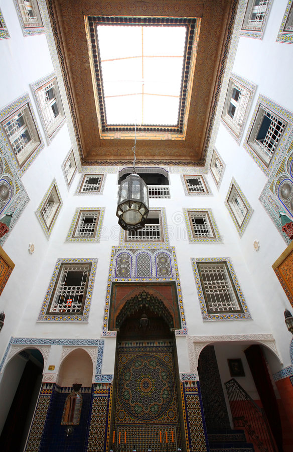 Download Indoor architecture stock photo. Image of morocco, stone - 8063776