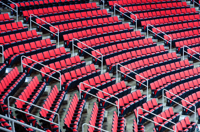Indoor arena seats royalty free stock photos