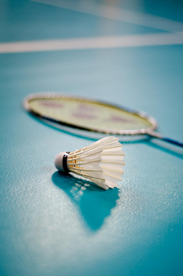 Indoor Badminton Shuttlecock Racquet Ball Game stock photos
