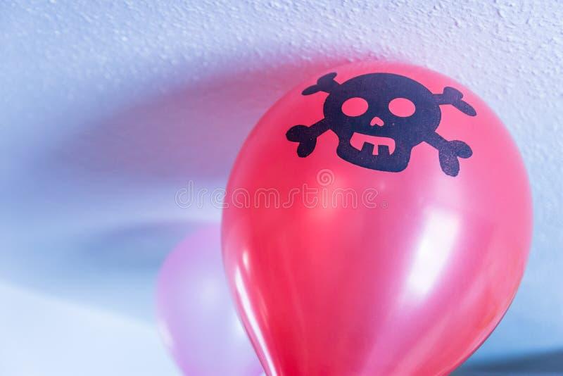 Indoor boys pirate birthday festive balloon decoration royalty free stock photo