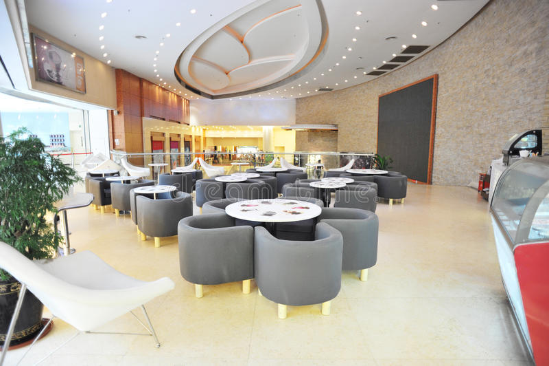 Download Indoor cafe area stock photo. Image of light, indoor - 25774156
