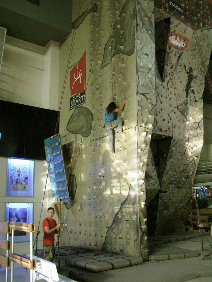 Indoor Climbing, Market Market Mall, Taguig, Metro Manila, Philippines. Indoor Climbing at Market Market Mall, Taguig, Metro Manila, Philippines stock photo