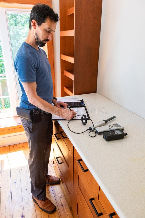 Free Indoor Damp & Air Quality IAQ Testing. Royalty Free Stock Photography - 160278407