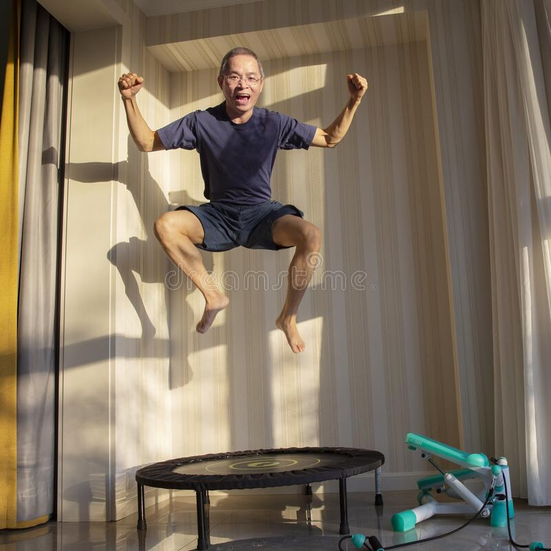 Free Indoor Exerciser, Home Sporting Stock Images - 177019094