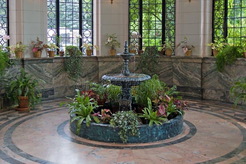 Download Indoor fountain stock photo. Image of green, indoor, marble - 2119634