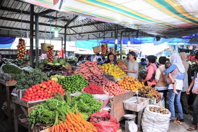 Indoor Fresh Food Market stock photography