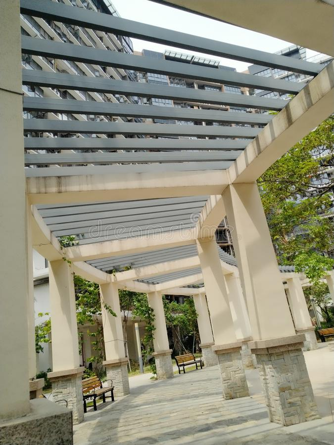 Indoor Garden Plaza in Shenzhen Community, China royalty free stock photo