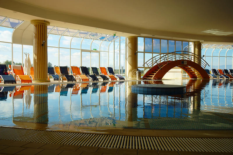 Swimming Pool Antiques : Indoor hotel swimming pool editorial image of
