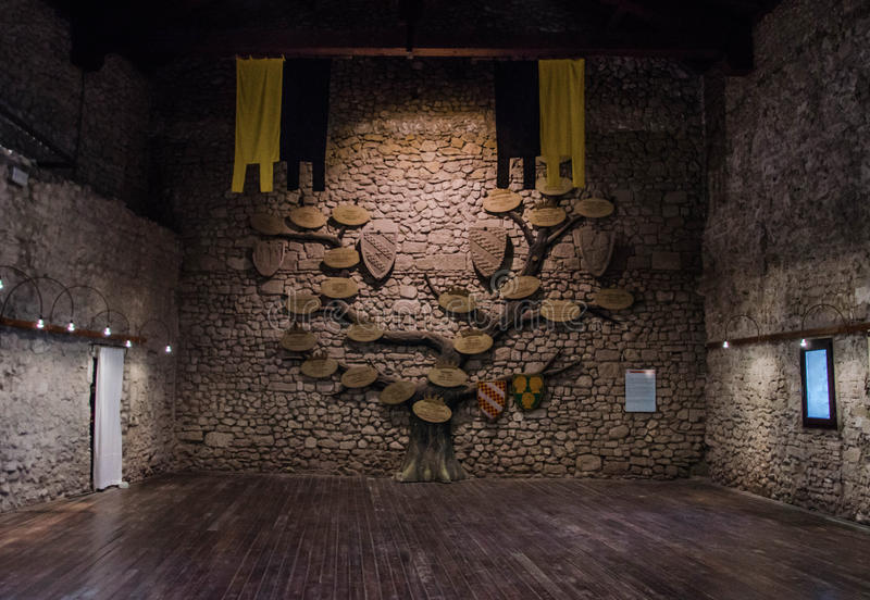 The Indoor of Malatesta fortress stock image