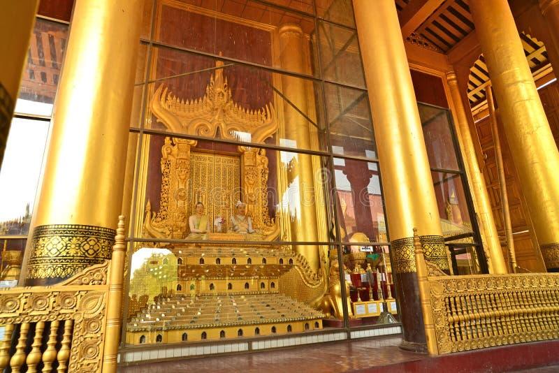 Mandalay Palace.Myanmar. Indoor of the Mandalay Palace.Mandalay, Myanmar royalty free stock photos