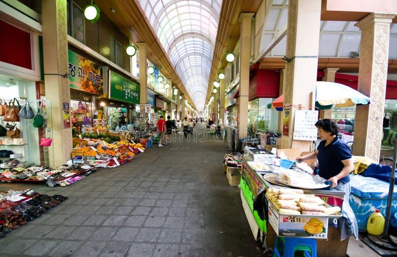 Indoor market of Iksan, South Korea stock photography