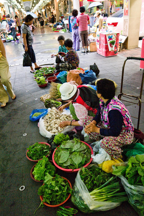 Indoor Market Of Iksan, South Korea Editorial Stock Photo