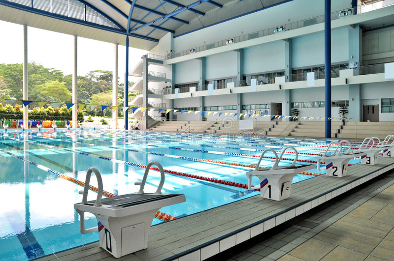Download Indoor Olympic Size Swimming Pool Stock Image - Image of empty, swim: 4232837