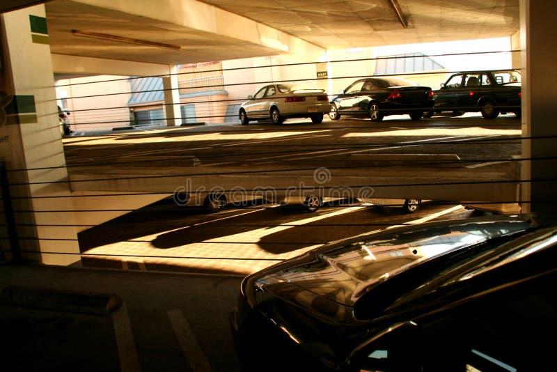 Indoor parking structure stock image