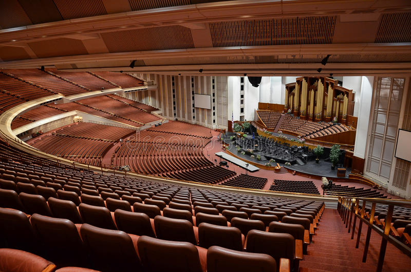 Lds conference center, Salt Lake City. Indoor picture of mormons conference center in Salt Lake City royalty free stock photo