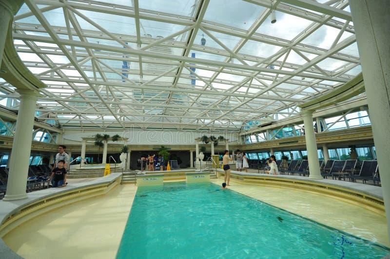 Indoor pool, Solarium of 'Legend of the Seas' royalty free stock photos