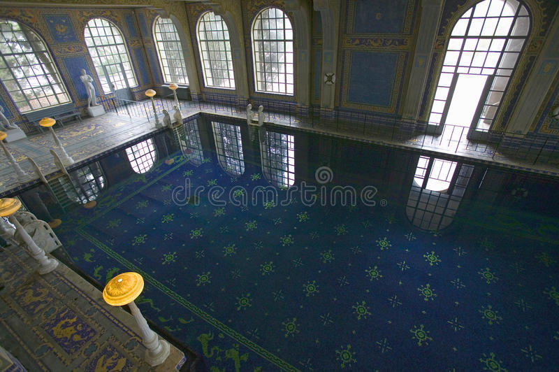 Indoor Roman Pool at Hearst Castle, San Simeon, California, where many celebrities went swimming stock photos