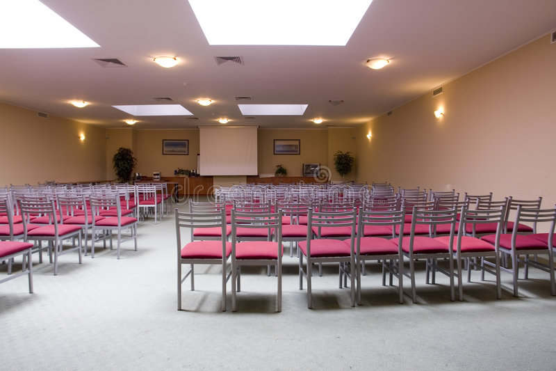 Indoor seminar room interior royalty free stock photography