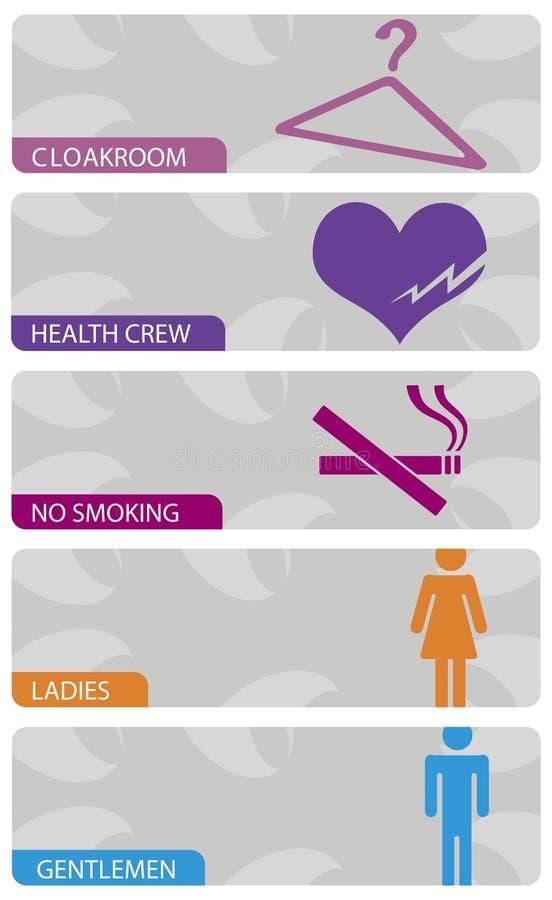 Download Indoor signs stock vector. Image of instruction, health - 13314085