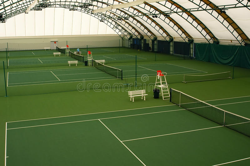 Download Indoor tennis court stock image. Image of covering, game - 14668955
