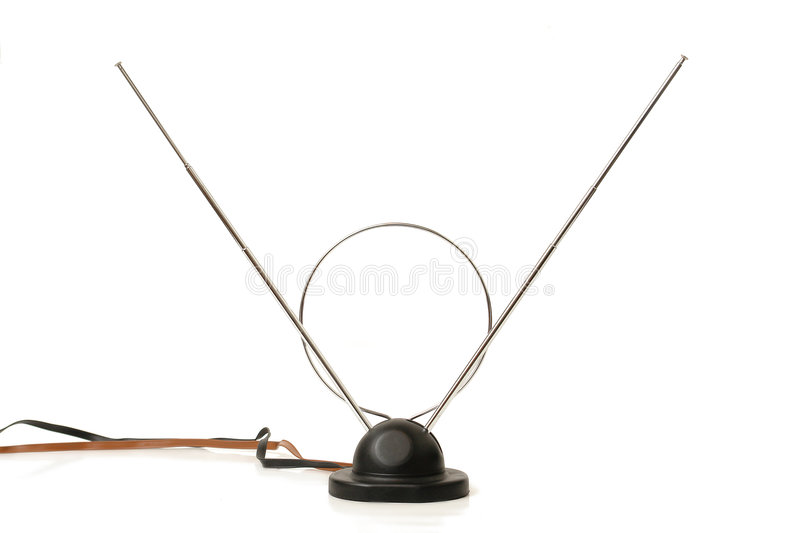 Download Indoor tv antenna stock photo. Image of accessory, isolated - 1721556