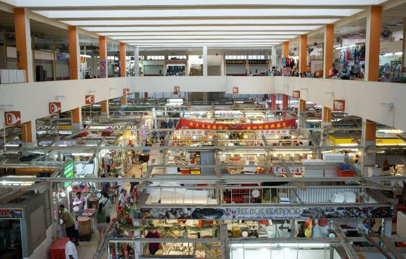 Indoor Wet Market in Asia stock image