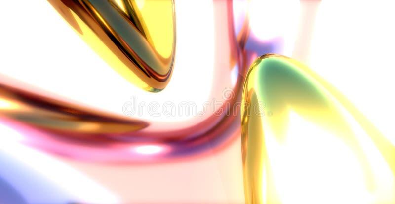 indoorshot金属反映skyreflections 库存例证