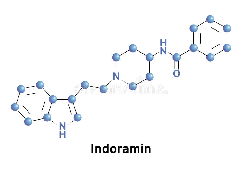 Indoramin is a piperidine antiadrenergic. Agent. It is an alpha-1 selective adrenoceptor antagonist with direct myocardial depression action. It is used in stock illustration