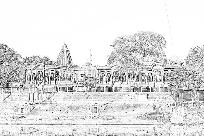 Indore Kishanpura Chatri fotografie stock