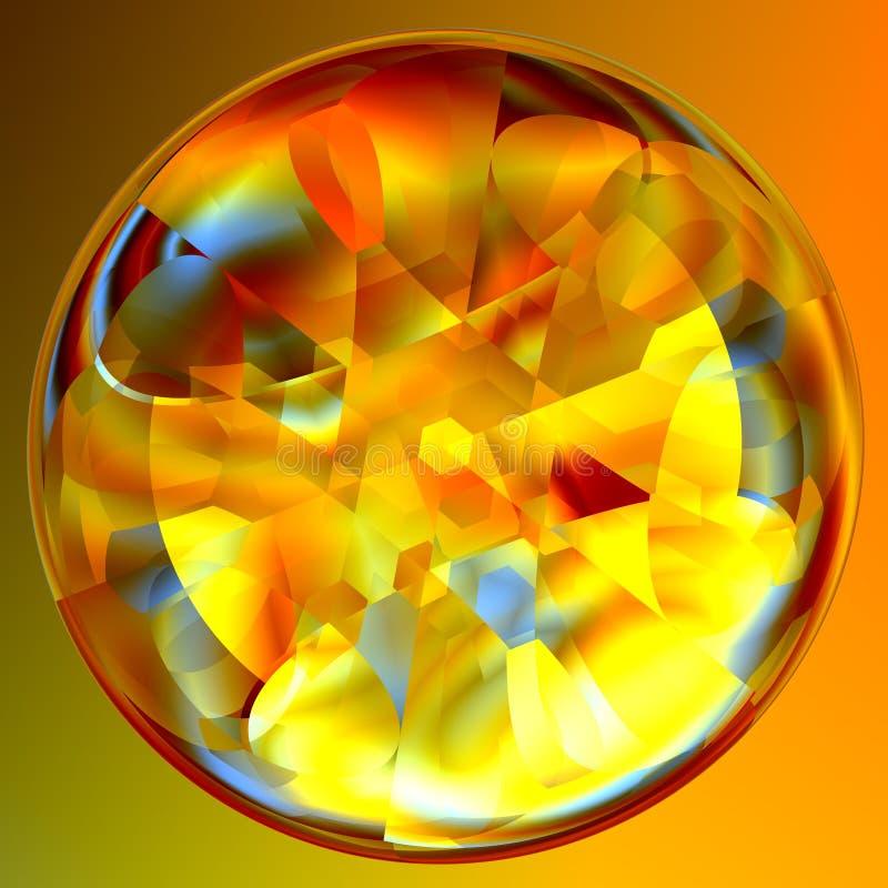 Indovino astratto Crystal Ball illustrazione vettoriale