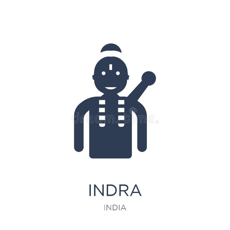 Indra象 在白色背景fr的时髦平的传染媒介Indra象 皇族释放例证