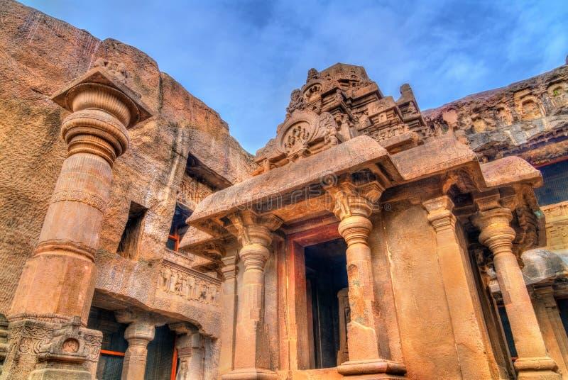 Indra Sabha, σπηλιά αριθ. 32 Ellora Περιοχή παγκόσμιων κληρονομιών της ΟΥΝΕΣΚΟ Maharashtra, Ινδία στοκ εικόνες
