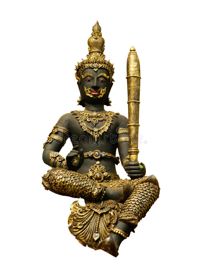 Indra statue in Thailand royalty free stock photo
