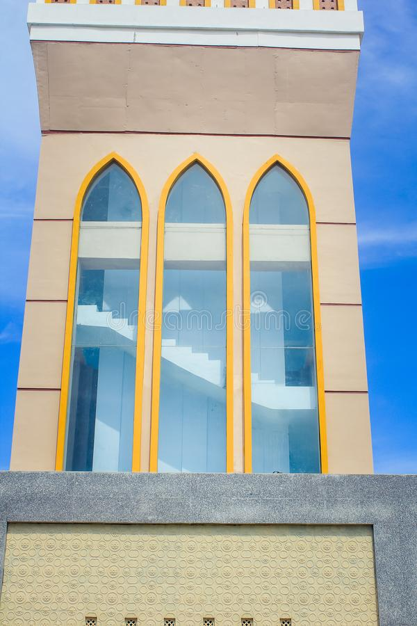 The Great Mosque of Indramayu West Java Indonesia. INDRAMAYU, INDONESIA- FEBRUARY 21, 2019: The Great Mosque of Indramayu West Java Indonesia royalty free stock photography