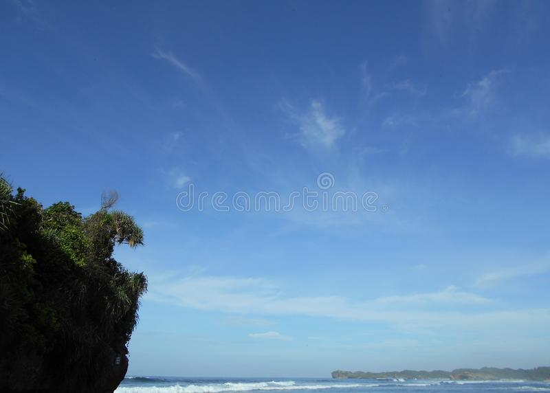 Indrayanti海滩 免版税库存图片