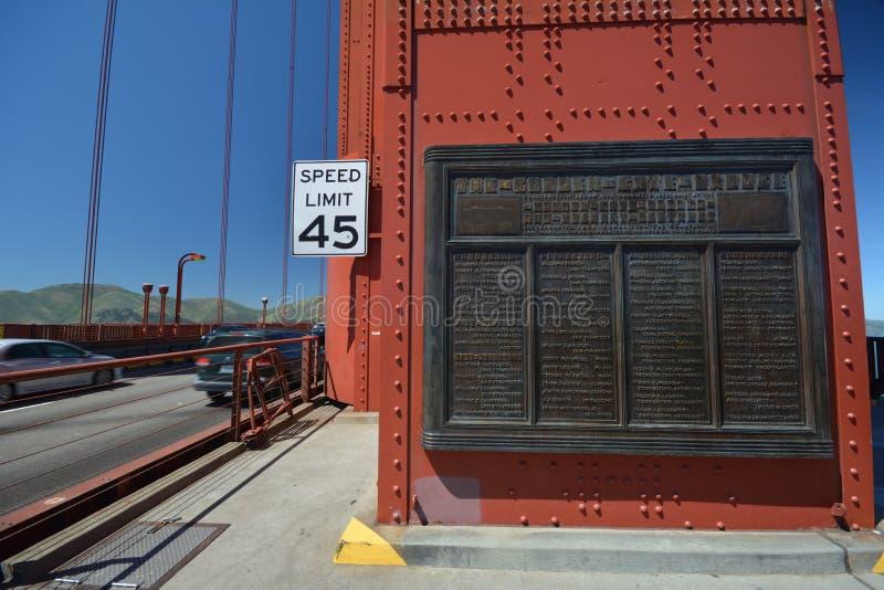 Indrukken van Golden gate bridge in San Francisco vanaf 2 Mei, 2017, Californië de V.S. stock afbeelding