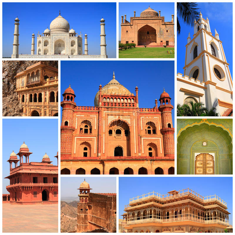 Indrukken van India stock afbeeldingen