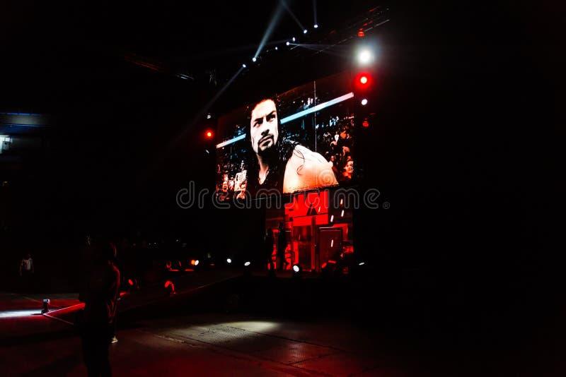 Indrukken van WWE Live Event tijdens WWE Live Tour 2017, Hamburg, Duitsland stock foto