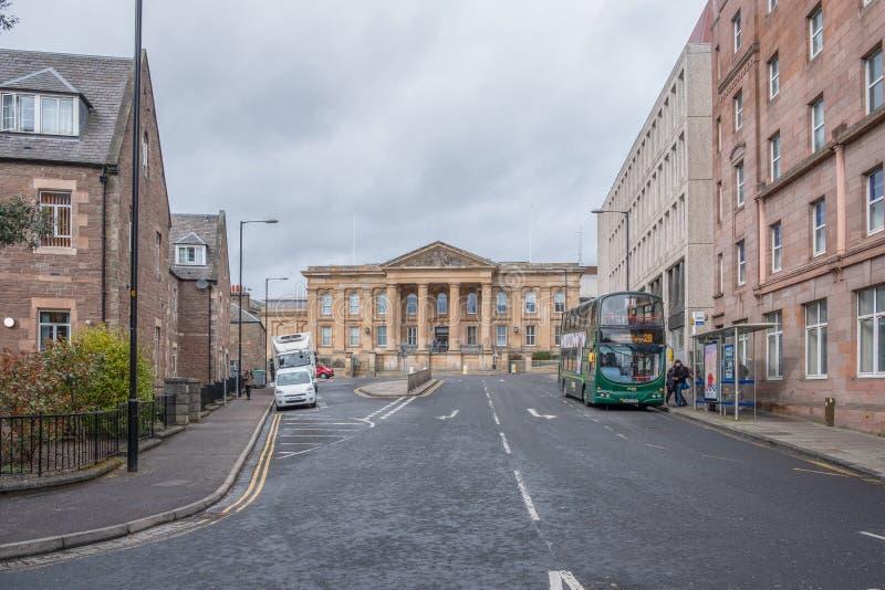 Indrukwekkende Schotse Architectuur bij de Sheriff Court van Dundee schotland stock afbeelding