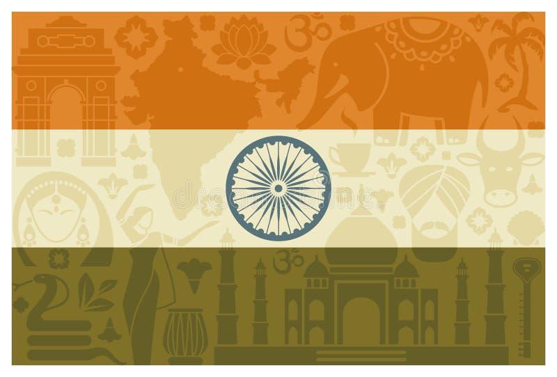 indu bandery ilustracja wektor