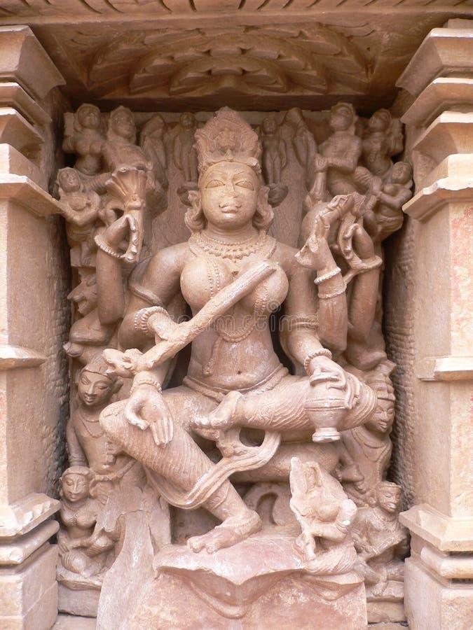 indu khajuraho madhya pradesh mahadeva świątyni fotografia stock