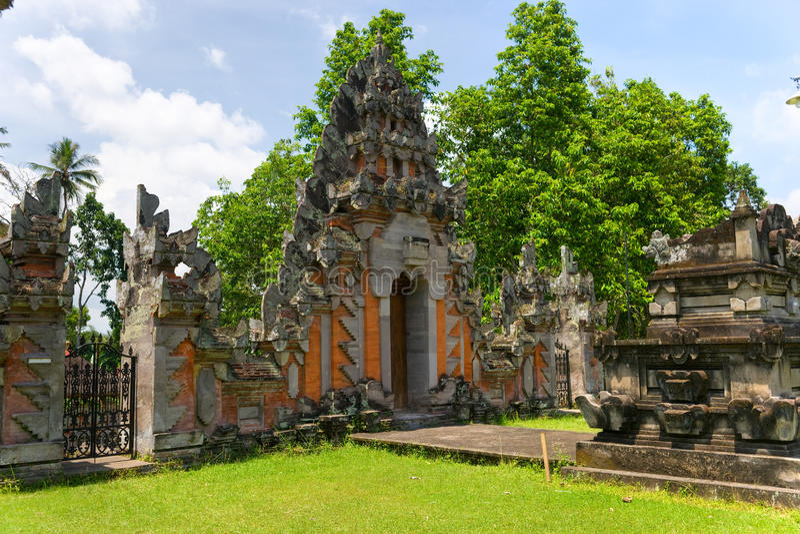 Indu Tempel in Ubud, Bali, Indonesien. lizenzfreie stockfotografie