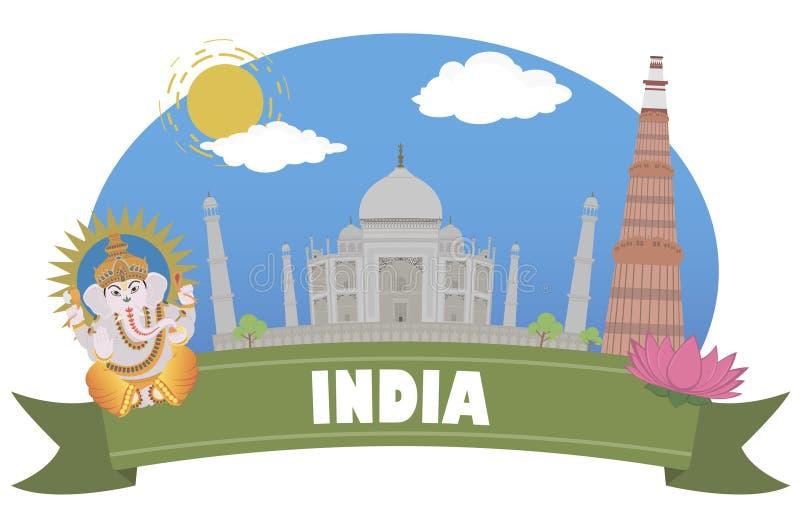 indu Turystyka i podróż royalty ilustracja
